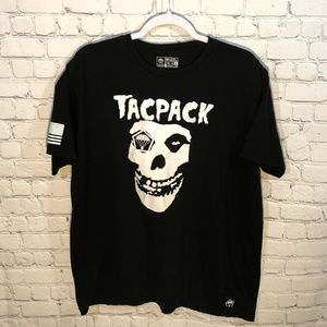 Tacpack Black and White Skull Tshirt 2X